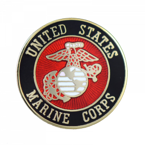 Full Color USMC Round Lapel Pin-0