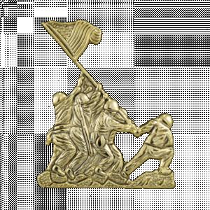 Gold Iwo Jima Flag Raising Pin-0