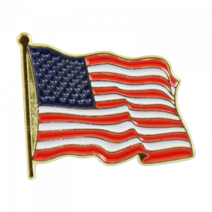 Waving American Flag Lapel Pin-0