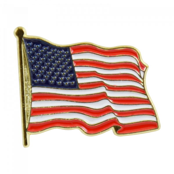 Waving American Flag Lapel Pin-0