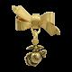 Gold Bow & EGA Charm Lapel Pin-0