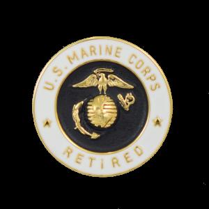 20 Years of Service USMC Retired Lapel Pin-0
