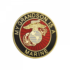 """My Grandson is a Marine"" Pin-0"