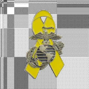 Yellow Ribbon with EGA Pin-0