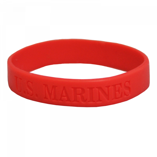 """Red """"U.S. Marines"""" Support Band-0"""