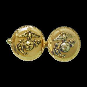 Gold Plated Diamond Cut Cufflinks with EGA-0