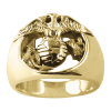 Carroll Collection 18K Gold Eagle, Globe & Anchor Ring