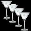 Etched EGA Martini Glass Set-0