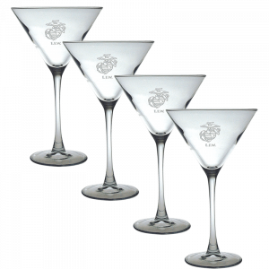 Etched EGA Martini Glass Set-0
