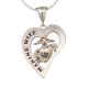 "Sterling Silver ""Marine Wife"" Heart Necklace-0"