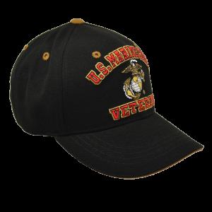 """""""US Marine Corps Veteran"""" Baseball Cap - BLACK-149230"""