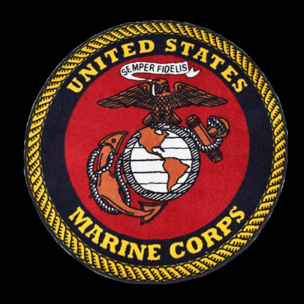 Round USMC Rug-0
