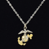 3D Two Tone Plated EGA Charm Necklace-149174