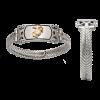 Ladies Stainless Steel Bracelet with 14KT EGA-0