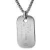 Stainless Steel Dog Tag Pendant with 14KT Gold EGA Accent-151843