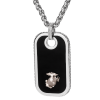Stainless Steel Dog Tag Pendant with Sterling Silver EGA Accent-0
