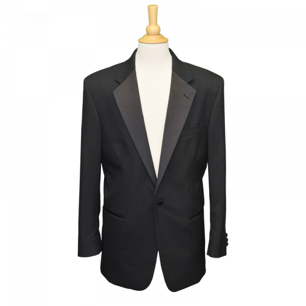One Button Black Tuxedo Jacket-0