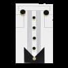 Black Cufflink & Stud Set for Tuxedo-0