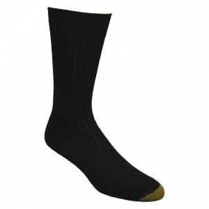 GoldToe® Black Calf Length Socks-0