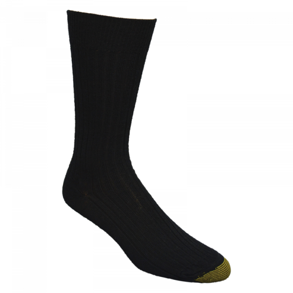 GoldToe® Black Calf Length Socks-0