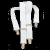White Clip-On Suspenders-0