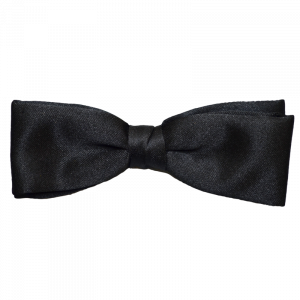 Black Clip-On Bow Tie-0
