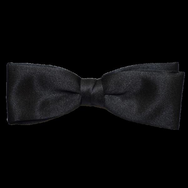 Black Clip-On Bow Tie-0