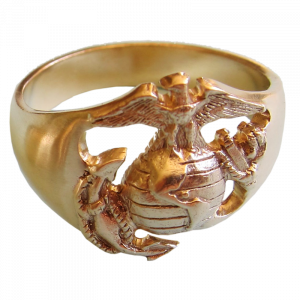 Men's 14K Gold EGA Ring-0