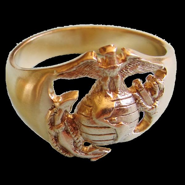 Men's 14K Gold EGA Ring-0