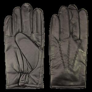 Men's Lined Black Gloves - LARGE-0
