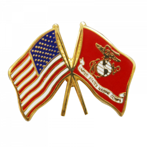 Crossed US & USMC Flags Tie Tack-0