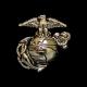 Silver Eagle, Globe & Anchor Tie Tack-0