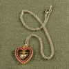 EGA & Red Crystals Heart Necklace-162776