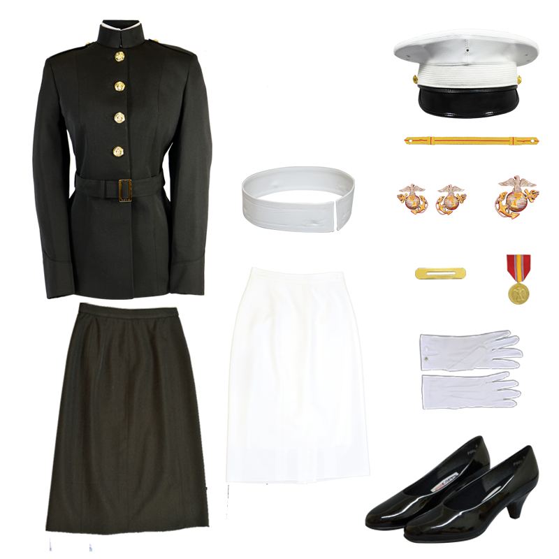USMC Female Officer Blue Dress Uniform Partial Package