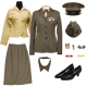 Female Commissioning Uniform with Minimal Jewelry