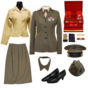 USMC 2nd LT Female Commissioning Uniform with Jewelry Box