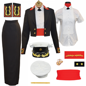 USMC Woman Officer Evening Dress Uniform Package