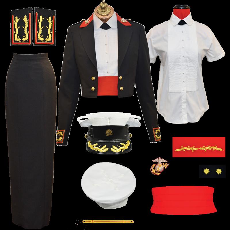 USMC Woman Officer Evening Dress Uniform Package