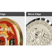 Custom USMC challenge coin edge options
