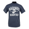 """Quantico"" Heathered Navy T-shirt-0"