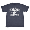 """Quantico"" Heathered Navy T-shirt-153597"