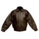 Brown Leather Bomber Jacket-0