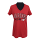 "Red ""Marines Mom"" V-Neck T-shirt-0"