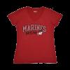 "Red ""Marines Mom"" V-Neck T-shirt-153794"