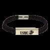 """Leather """"USMC"""" Bracelet-0"""