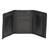 Ultra Soft Faux Leather Trifold Black Wallet-155207