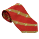 Red & Gold Striped Neck Tie with EGAs-0
