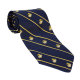 Navy EGA Necktie with Gold Stripes-0