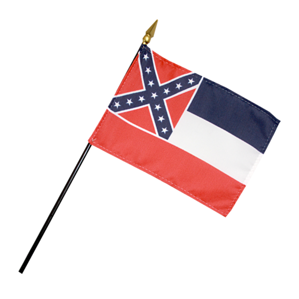 "Mississippi 4"" x 6"" Miniature Flag-0"
