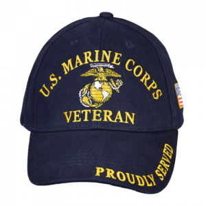 "Blue ""USMC Veteran"" Cap-0"